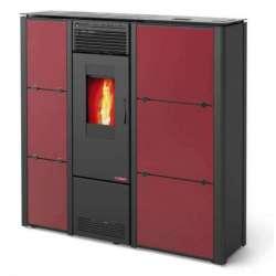 Nila Basic. Estufa slim de pellet 10 kW. Lasian. Especial para pasillo. Colores disponibles: bureos y negro.