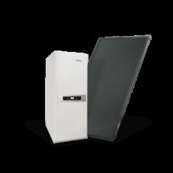 Avanttia Solar H 150 L. 25 HDX Plus 1. Caldera híbrida condensación 25 kW (solar-gas) con acumulador solar 150 litros. Domusa