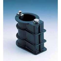 Anclaje plástico toma tierra para tubo Ø 43 mm.