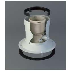 Adaptador salida vertical Ferroli, Fagor, Biasi y Baxi Ø 60-100 Polipropileno/Aluminio. Para caldera mural de Condensación